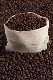 Coffee pack3. Bag and coffee beans royalty free stock image