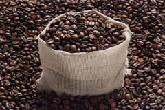 Coffee pack4.jpg. Bag of coffee and coffee beans Stock Photography