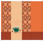 Coffee-package-design-side with squares Royalty Free Stock Photo