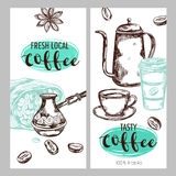 Coffee Packaging Banner Set Royalty Free Stock Images