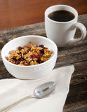 Coffee and Paleo Granola Breakfast is Served Stock Image