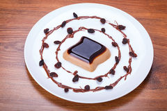 Coffee panna cotta dessert Stock Image