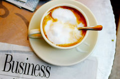 Coffee and paper Stock Photography