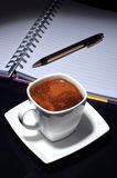 Coffee and paper Stock Photos