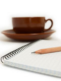 Coffee & Paper Stock Photo