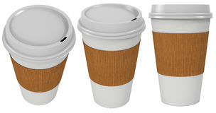 Coffee paper cup. 3D illustration isolated on a white background Stock Image