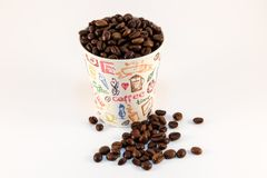 Coffee in paper cup Stock Photos
