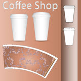 Coffee paper cup mock-up layout Royalty Free Stock Image