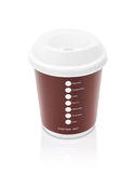 Coffee paper cup to go isolated on white background Royalty Free Stock Images