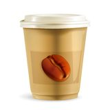 Coffee paper cup vector Royalty Free Stock Photos