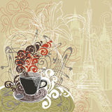 Coffee in a Paris cafe Royalty Free Stock Photos