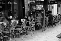 Coffee in Paris. A ordinary coffee terrasse in Paris, France Stock Photography
