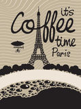 Coffee and Paris Royalty Free Stock Images