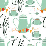 Coffee party pattern Stock Photos