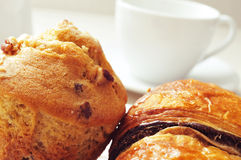 Coffee and pastries Royalty Free Stock Photography