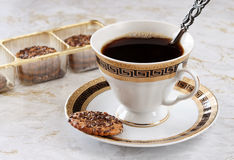 Coffee with the pastry. Royalty Free Stock Images
