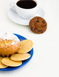 Coffee and pastry Royalty Free Stock Images