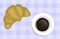 Coffee and pastry Royalty Free Stock Photos
