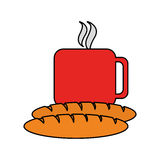 Coffee and pastry icon image. Vector illustration design Stock Photos