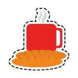 Coffee and pastry icon image. Vector illustration design Royalty Free Stock Photo