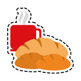 Coffee and pastry icon image. Vector illustration design Royalty Free Stock Photos