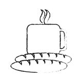 Coffee and pastry icon image. Vector illustration design Stock Images