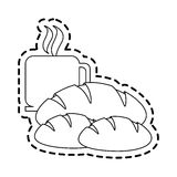 Coffee and pastry icon image. Vector illustration design Royalty Free Stock Image