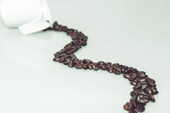 Coffee path with coffee cup Royalty Free Stock Image