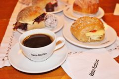 Coffee at the patisserie Vete-Katten Stock Photos