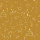 Coffee pattern Stock Photography