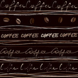 Coffee pattern Stock Image