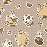 Coffee pattern Royalty Free Stock Photos