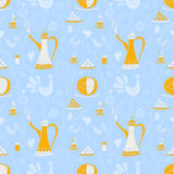 Coffee pattern Arabica Royalty Free Stock Photos