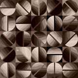 Coffee pattern in geometric style. Royalty Free Stock Photography