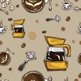 Coffee pattern Stock Photos