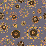Coffee pattern - grey Royalty Free Stock Images