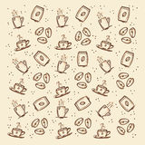 Coffee pattern Stock Photography