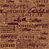Coffee pattern for menu design Royalty Free Stock Photos