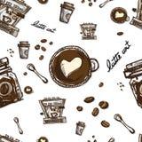 Coffee pattern Stock Photo