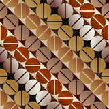 Coffee pattern in retro style Royalty Free Stock Image