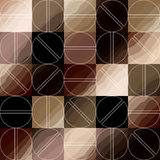 Coffee pattern in retro style Royalty Free Stock Images