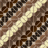 Coffee pattern in retro style Royalty Free Stock Photo