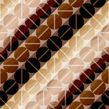 Coffee pattern in retro style Stock Photography