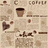 Coffee pattern royalty free illustration