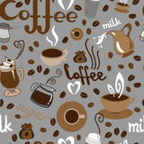 Coffee pattern Royalty Free Stock Images