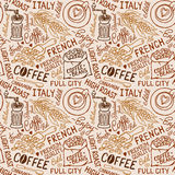 Coffee pattern Royalty Free Stock Photo