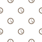 Coffee pattern, seamless pattern design for coffee shop Royalty Free Stock Photos