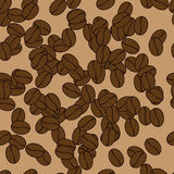 Coffee pattern. Sine putter made of coffee beans Stock Photos