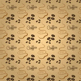 Coffee pattern. Coffee time seamless pattern design. vector illustration Stock Images
