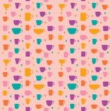 Coffee pattern Royalty Free Stock Image